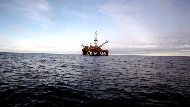 Offshore oil installation video