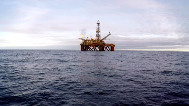 Offshore oil platform video