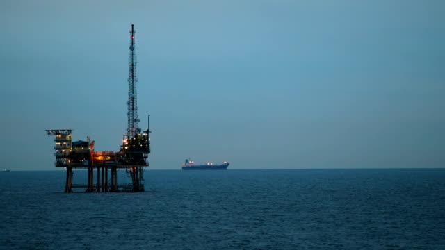 Offshore Oil Rig at dusk