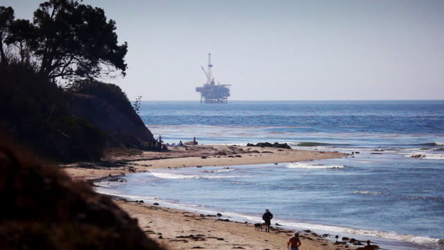 Offshore Oil Rig Drilling Platform - Pacific Coast video