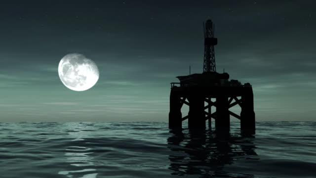 Offshore Oil Rig Drilling Platform video