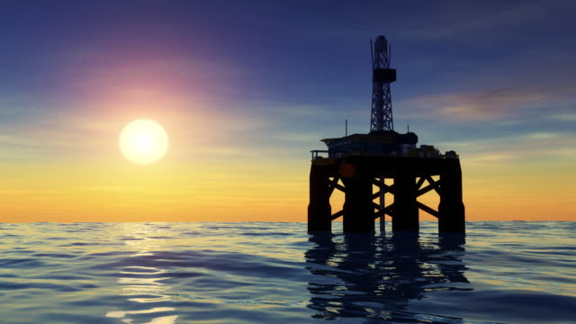 offshore oil drilling rig-plattform - bohranlage stock-videos und b-roll-filmmaterial