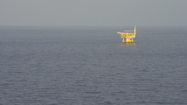 offshore petroleum production platform video