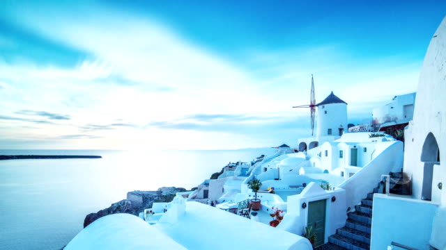 Oia city, Santorini, Time-lapse video