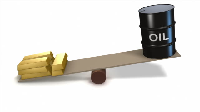 Oil and gold prices animation video