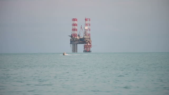 Oil drilling rig video