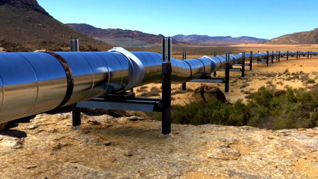 olja gas pipeline i öknen - pipeline bildbanksvideor och videomaterial från bakom kulisserna