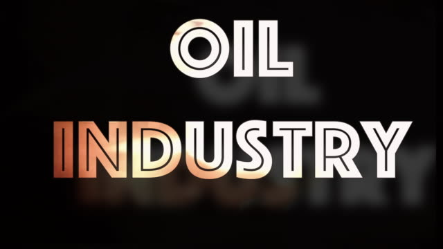 Oil industry downturn computer graphic