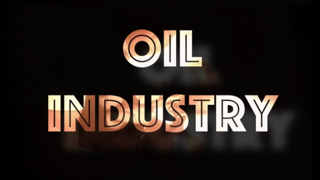 Oil Industry global decline computer graphic