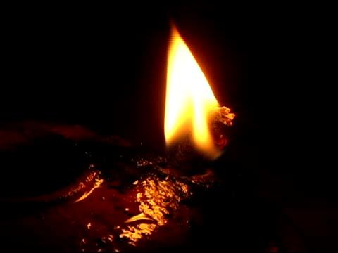 Oil Lamp Burning Wick video