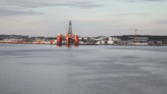Oil plattform in the North Sea. Norway video