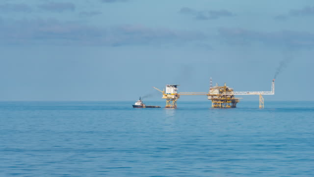 oil production platform video