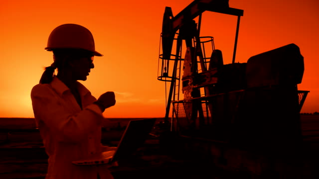Oil Pump Jack at Sunset video