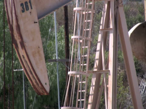 Oil Pumpjack Working, Different Angle, Close Up video