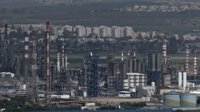 Oil Refineries Ltd in Haifa, Israel video