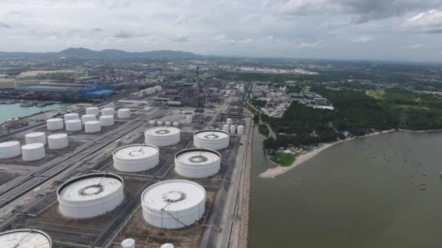 石油精製所と化学プラント、航空ビデオ ビデオ