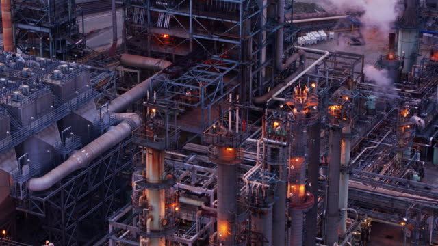 Oil Refinery from Above video