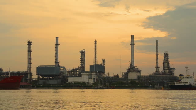 Oil refinery industry video