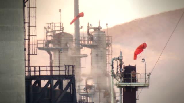 oil refinery windsocks video