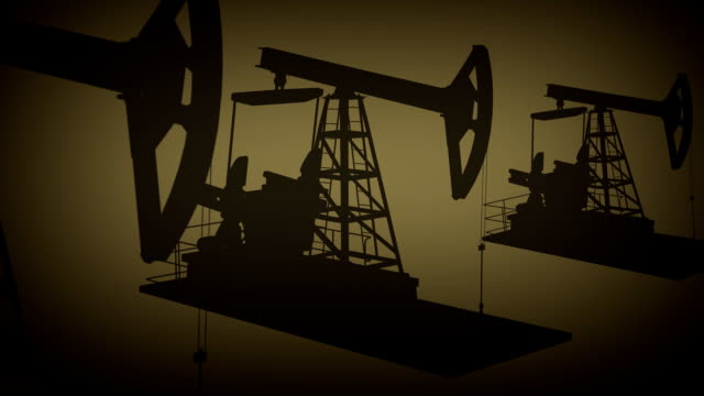 Oil rig animation background video