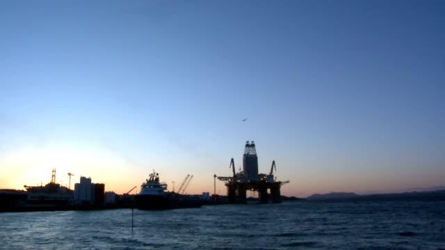 Oil Rig Norway video