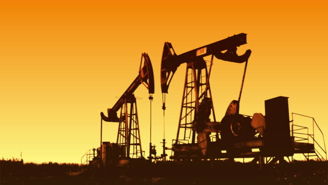 Oil rig (sunrise) video