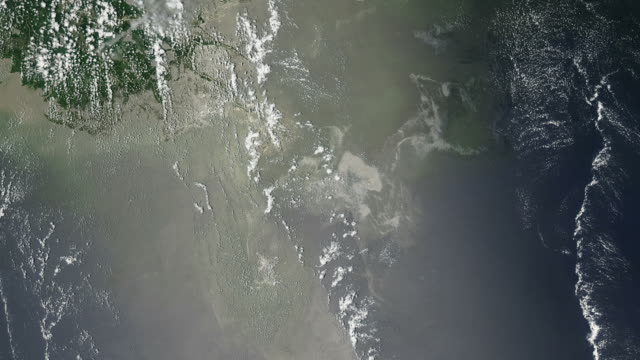 Oil Slick in the Gulf of Mexico From Space video