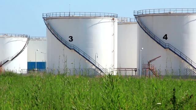 Oil storage tanks video
