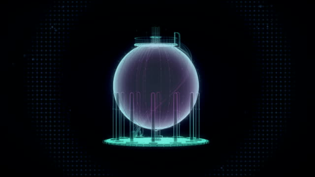 Oil tank, tanker. energy industry. X-ray image. video