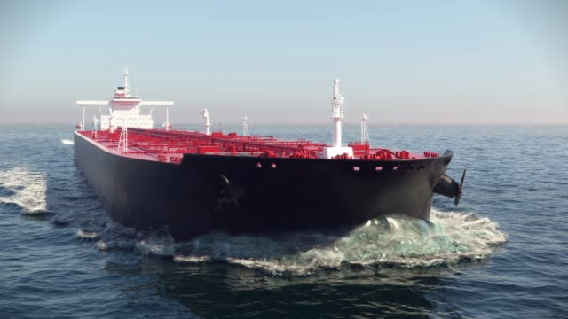 oil tanker floating in the ocean oil tanker floating in the ocean 3d animation industrial ship stock videos & royalty-free footage