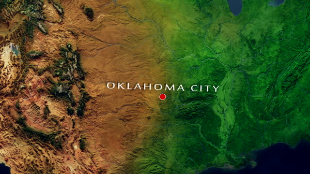 Oklahoma City 4K Zoom In video