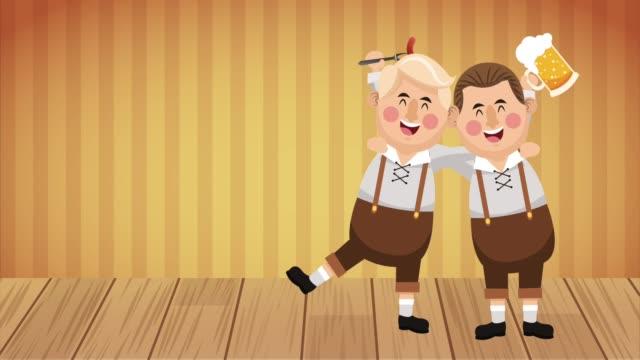 vídeos y material grabado en eventos de stock de celebración de la fiesta de oktober animación hd - oktoberfest