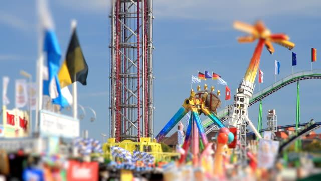 Oktoberfest Munich con efecto de inclinación y desplazamiento - vídeo