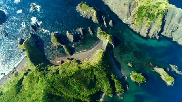 Okuirouzaki Helicopter Shot of Okuirouzaki at Izu Peninsula beauty in nature stock videos & royalty-free footage