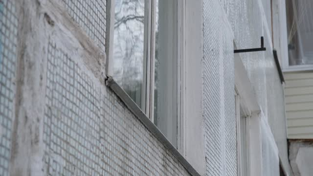 Old apartment house wall background video