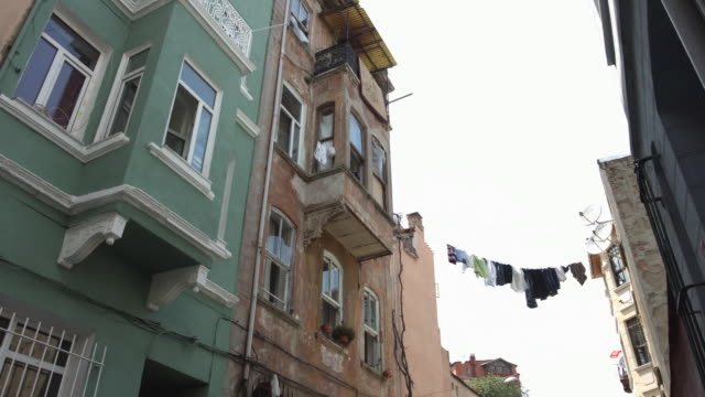 old architecture and building of Istanbul downtown video
