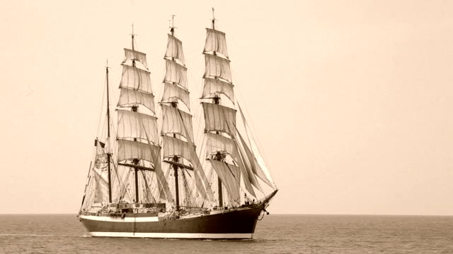 old barque under full sail video