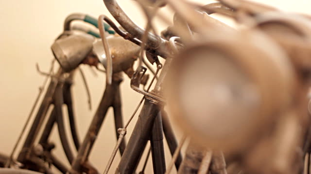 old bicycle. video