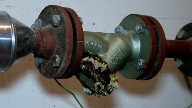 Old Big Metal Gas Pipe Old Big Metal Gas Pipe bolt fastener stock videos & royalty-free footage