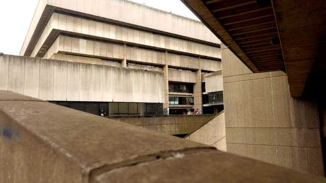 old birmingham library - paradise circus detail. - concrete architecture stock videos & royalty-free footage
