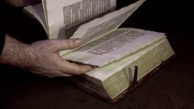 Old book video