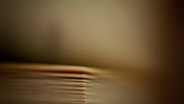 vídeos y material grabado en eventos de stock de libro viejo con turning pages - libro