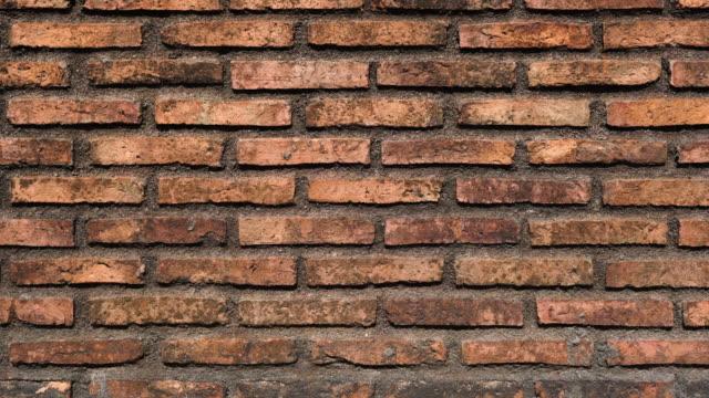 Old Brick Wall Background Sliding Shot