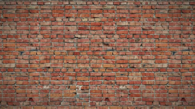 old brick wall seamless loop, moving background, old brick wall brick stock videos & royalty-free footage