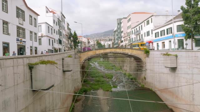 Old bridge over river in Funshal video