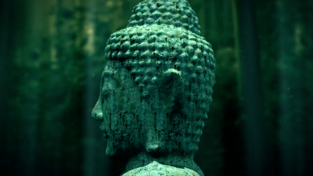 alte buddha-statue - meditation icon stock-videos und b-roll-filmmaterial