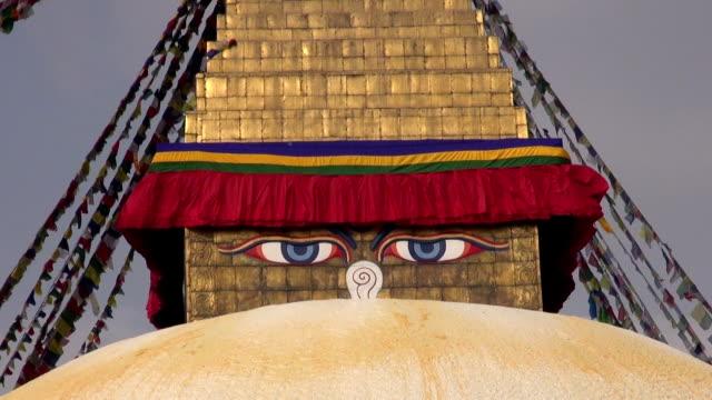 old buddhist  Boudhanath Stupa in Kathmandu, Nepal video
