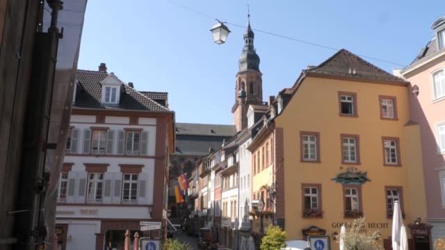Old buidings ona street in Heidelberg, Germany video
