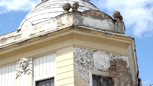 Old Building Facade in Ruin video