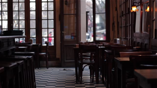 Old Cafe Of Buenos Aires (Argentina). Old Cafe Of Buenos Aires (Argentina). Full HD. barren stock videos & royalty-free footage